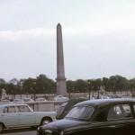 Vintage autos at Hofburg Palace, Vienna Austria – 1965