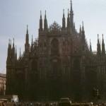 Retro photo Milan Cathedral in Milan Italy – 1960