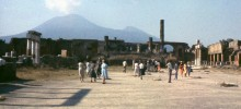 Ruins of the Temple of Jupiter at Pompeii in 1963